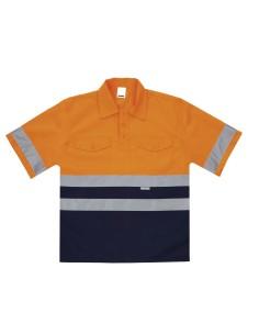 Camisola bicolor alta visibilidad de manga corta