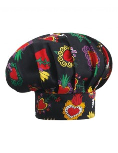 GORRO CHEF HAT HEARTS UNISEX