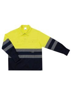 Camisola bicolor alta visibilidad manga larga