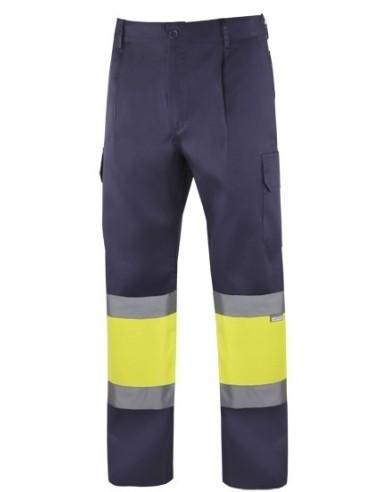 Pantalon bicolor alta visibilidad forrado
