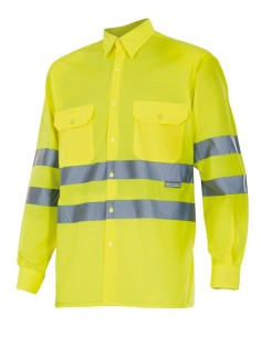 Camisa alta visibilidad manga larga