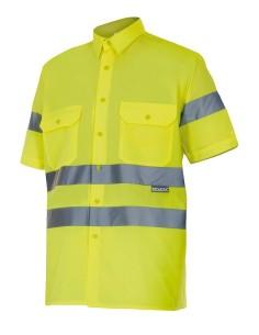 Camisa alta visibilidad manga corta