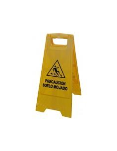 Señal precaucion de suelo mojado