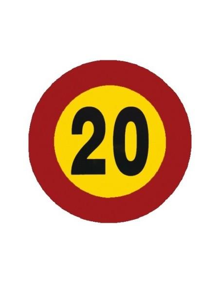 Señal economica velocidad 20