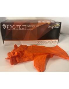 GUANTES PRO-TEC ORANGE HD PF T/L (100UD)
