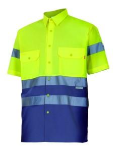 Camisa bicolor alta visibilidad manga corta