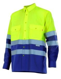Camisa bicolor alta visibilidad manga larga