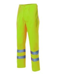 Pantalon alta visibilidad completo fluor