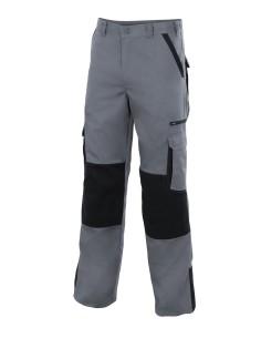 Pantalon bicolor multibolsillos con refuerzo de tejido