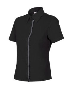 Camisa mujer entallada de manga corta