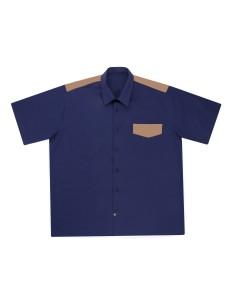 Camisa bicolor de manga corta