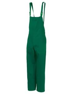 Pantalon con peto EUROPA 100% algodon azul (verde sobre pedido)