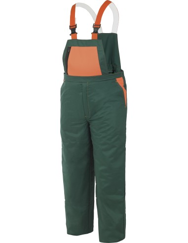 Pantalon con peto, proteccion piernas EN 381-5