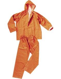Conjunto pvc-poliester naranja